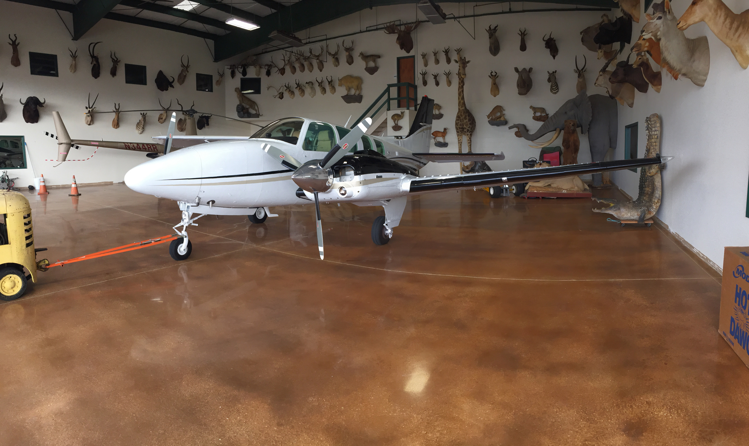Polished Concrete Airplane Hanger